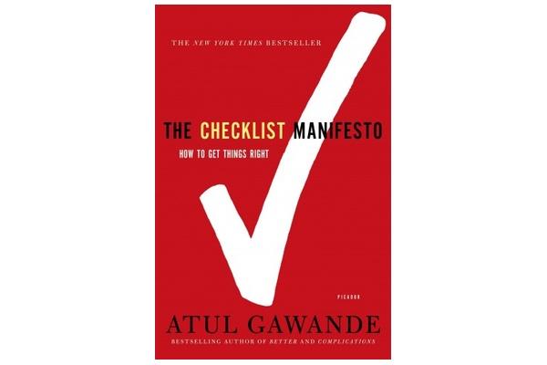 book cover for The Checklist Manifesto