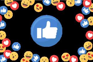 social media icons - happy faces, thumbs up, hearts